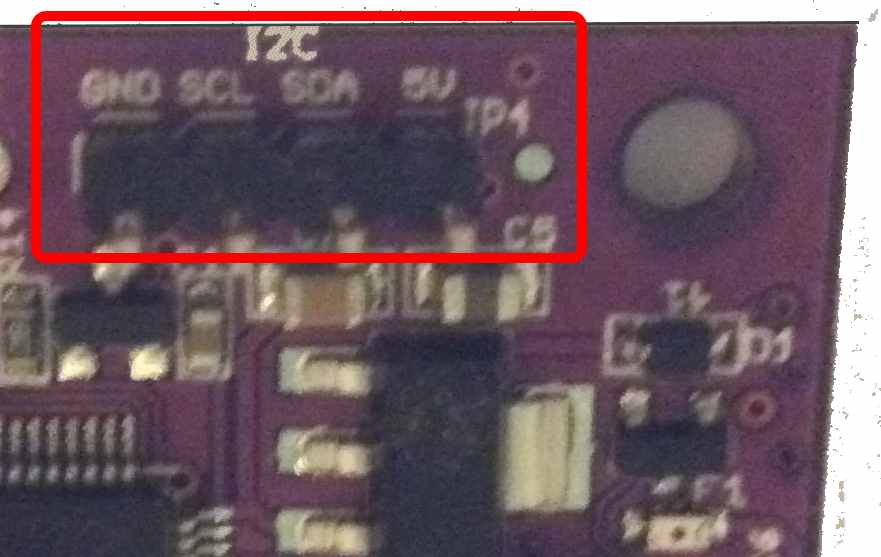 ftc robot installation navx micro navx micro i2c connector closeup